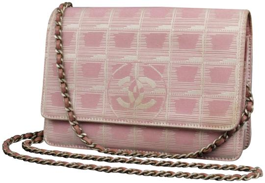 Preload https://img-static.tradesy.com/item/23210775/chanel-wallet-on-chain-227228-pink-coated-canvas-cross-body-bag-0-1-540-540.jpg