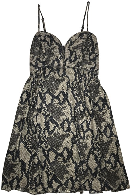 Preload https://img-static.tradesy.com/item/23210786/parker-grey-black-silk-snakeskin-short-cocktail-dress-size-2-xs-0-1-650-650.jpg