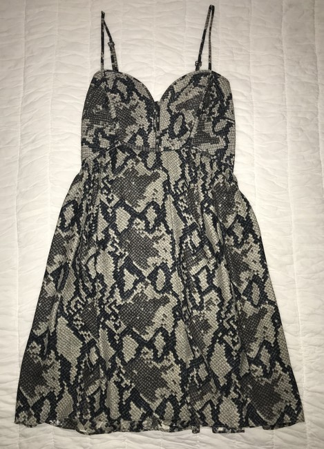 Parker Silk Snakeskin Zipper Adjustable Sleeveless Dress