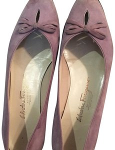 Salvatore Ferragamo purple Flats