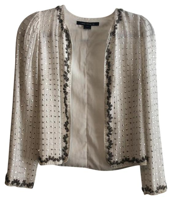 Preload https://img-static.tradesy.com/item/23211097/french-connection-white-sequin-jacket-cardigan-size-4-s-0-1-650-650.jpg