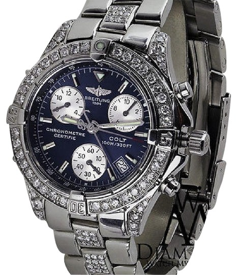 Preload https://img-static.tradesy.com/item/23211226/breitling-diamond-colt-chronograph-a73350-stainless-steel-6ct-watch-0-1-540-540.jpg