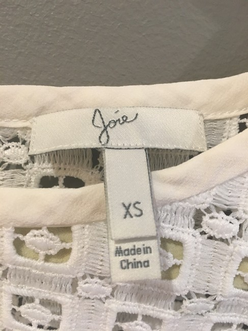 Joie On Trend Three Quarter Sleeve Spring Summer Lace Top White Image 1