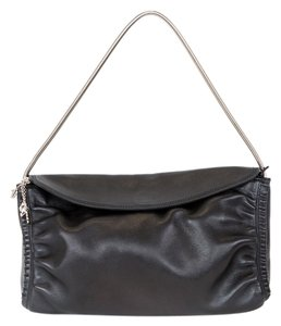 Salvatore Ferragamo Leather Metal Strap Shoulder Bag