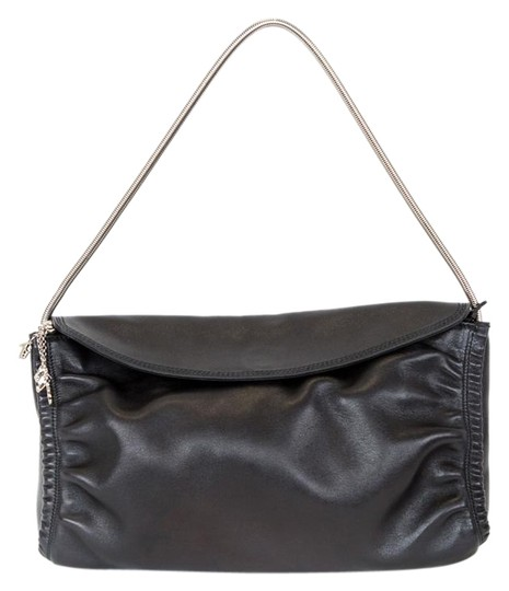 Preload https://img-static.tradesy.com/item/23211360/salvatore-ferragamo-metal-strap-black-leather-shoulder-bag-0-1-540-540.jpg