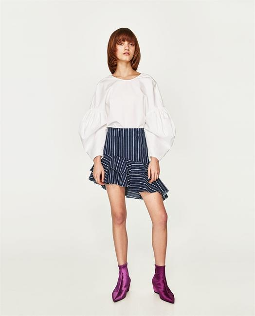Zara Mini Skirt Navy Blue