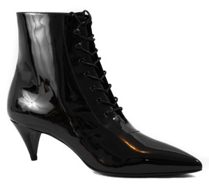 Saint Laurent Ysl Cat Ysl 351930 Black Boots