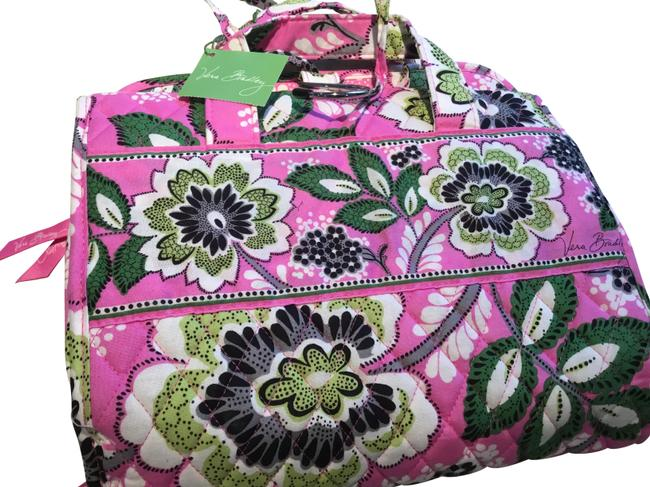 Item - Pink Green and White Hanging Organzier Cosmetic Bag