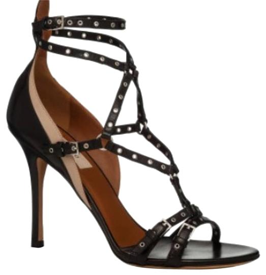 Valentino Black Love Latch High Sandals Size EU 39 (Approx. US 9) Regular (M, B) Image 0