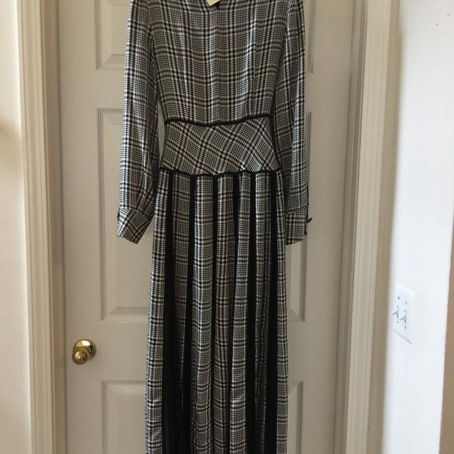 black, white & gray Maxi Dress by None
