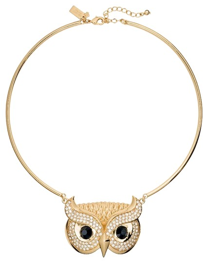 Preload https://img-static.tradesy.com/item/23211662/kate-spade-gold-new-new-york-owl-collar-into-the-woods-12k-necklace-0-1-540-540.jpg