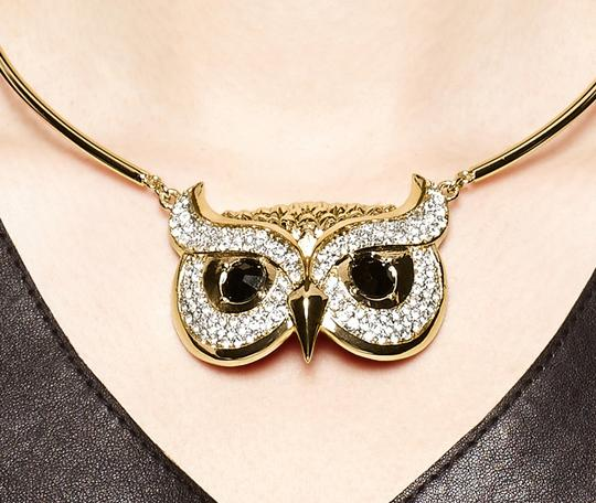 Kate Spade NEW kate spade New York Owl Collar Necklace Into the Woods 12k Gold