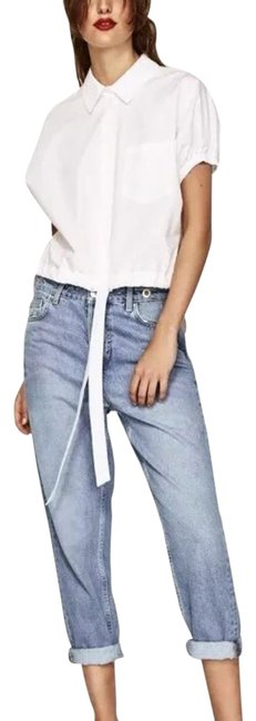 Preload https://img-static.tradesy.com/item/23211742/zara-white-poplin-shirt-with-bow-cotton-blouse-size-8-m-0-1-650-650.jpg