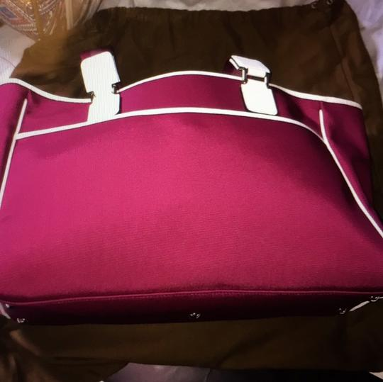 Gucci Tote in Burgundy and off white