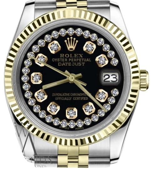 Preload https://img-static.tradesy.com/item/23211762/rolex-women-s-26mm-datejust2tone-glossy-black-string-diamond-accent-dial-watch-0-1-540-540.jpg