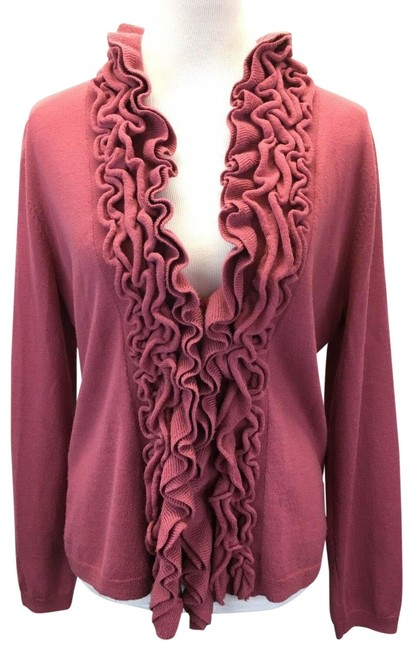 Preload https://img-static.tradesy.com/item/23211775/garnet-hill-mauve-ruffled-merino-wool-s-cardigan-size-6-s-0-5-650-650.jpg