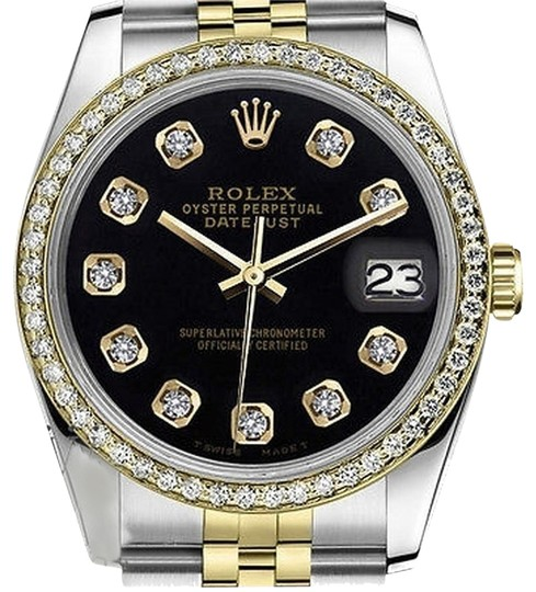 Preload https://img-static.tradesy.com/item/23211777/rolex-womens-26mm-datejust-tone-black-color-dial-with-diamonds-watch-0-1-540-540.jpg