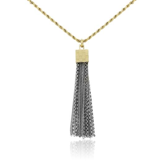Preload https://img-static.tradesy.com/item/23211789/louis-vuitton-yellow-white-two-tone-damier-charlie-tassle-necklace-0-0-540-540.jpg