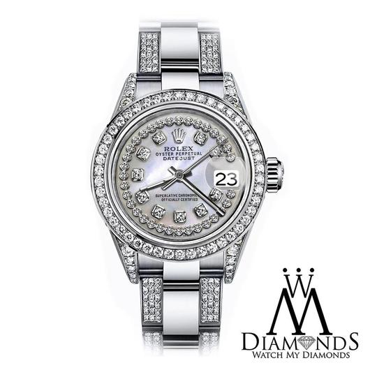 Rolex Women's 31mm s/s Oyster Perpetual Datejust Custom set Diamond Dial