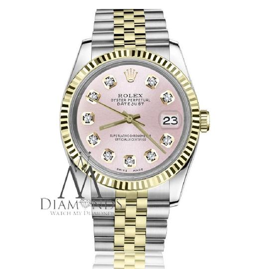 Rolex Women`s Rolex 26mm Datejust2Tone Metallic Pink Diamond Dial