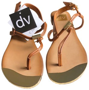 Dolce Vita cognac/brown and gold Sandals