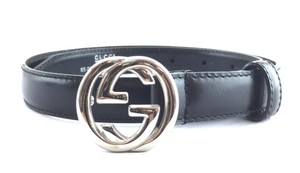Gucci GG logo Classic buckle skinny leather belt