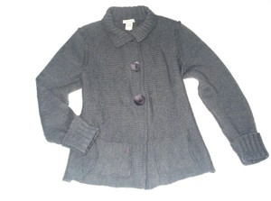 Sundance Large Buttons Snap Closure Wool Blend Cardigan