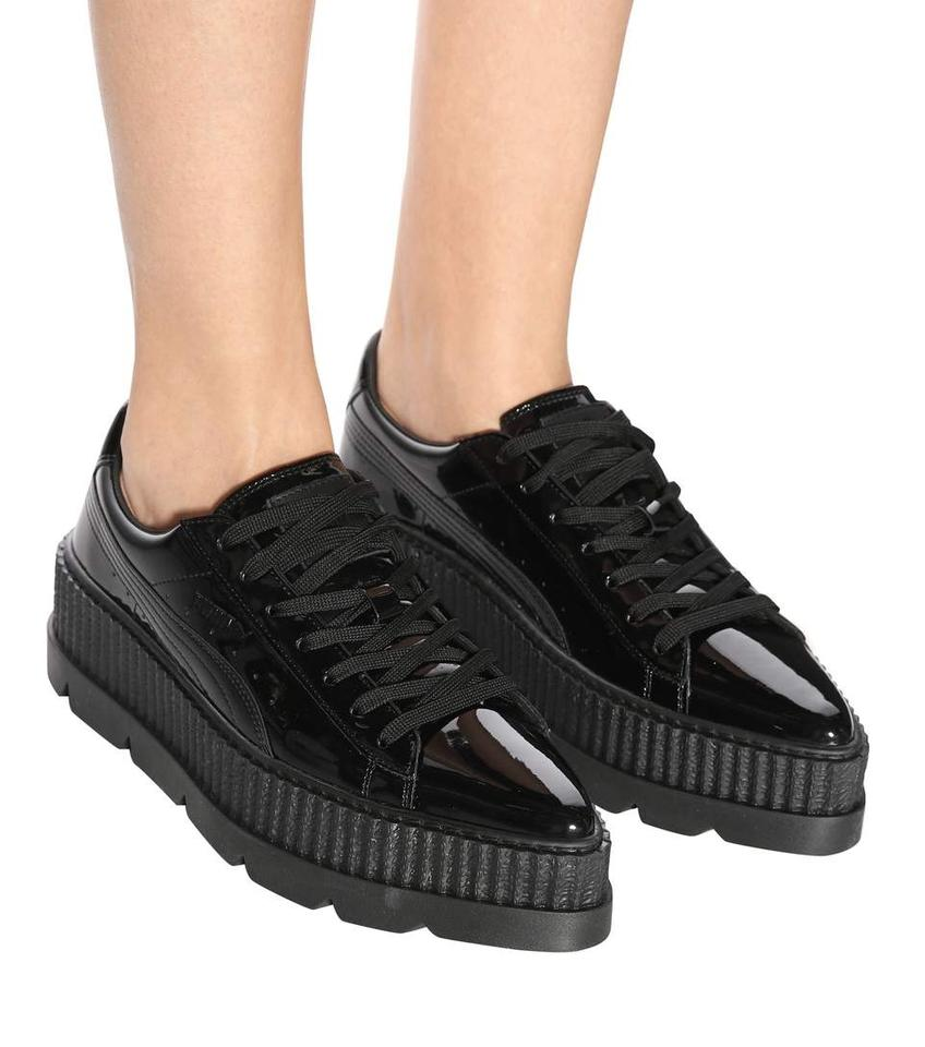 finest selection f0e8a 33a6f FENTY PUMA by Rihanna Black Women's Pointy Creeper Patent Sneakers Size US  7 Regular (M, B) 44% off retail