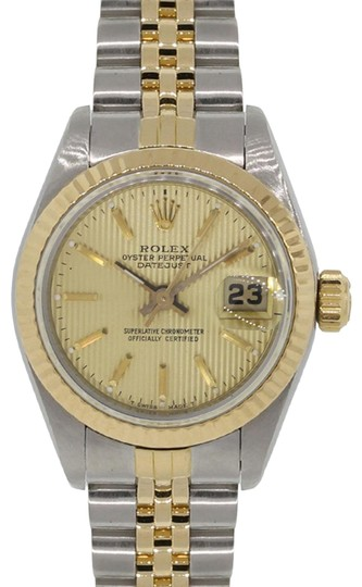 Preload https://img-static.tradesy.com/item/23211918/rolex-white-yellow-69173-datejust-tapestry-dial-ladies-two-tone-watch-0-1-540-540.jpg