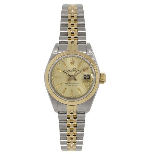 Rolex Rolex 69173 Datejust Tapestry Dial Ladies Two Tone Watch