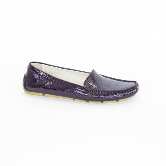 Gucci Patent Leather Loafers Purple Flats