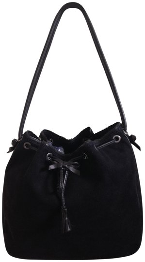 Preload https://img-static.tradesy.com/item/23211921/st-john-black-suede-leather-shoulder-bag-0-1-540-540.jpg