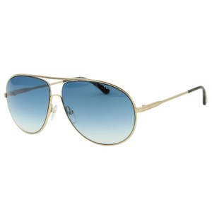 Tom Ford New Tf Cliff Ft0450-28p Men Metal Curved Aviator Pilot 61mm Sunglasses