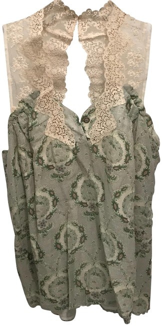 Preload https://img-static.tradesy.com/item/23211949/maison-mayle-green-floral-lace-blouse-size-4-s-0-1-650-650.jpg