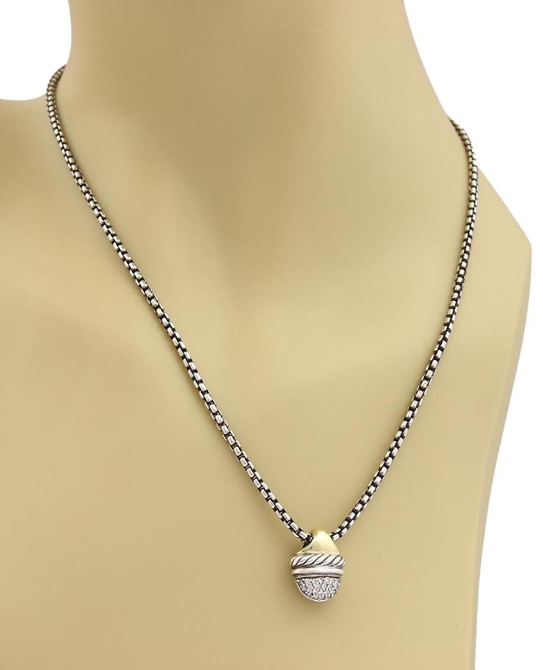 yurman yellow pendant acorn david i gold diamond sterling necklace