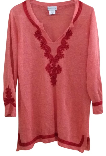 Preload https://img-static.tradesy.com/item/23212063/soft-surroundings-peach-with-red-rn-101206-tunic-size-10-m-0-1-650-650.jpg