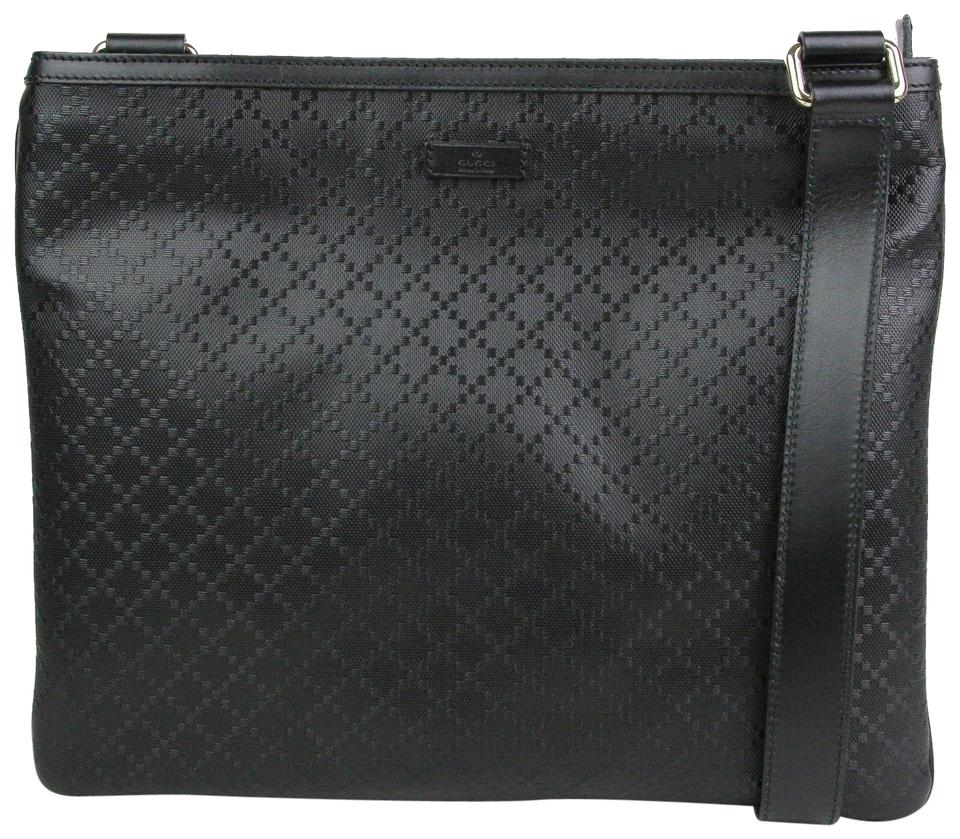 66734392f Gucci Hilary Lux Diamante 201446 Black Leather Messenger Bag - Tradesy