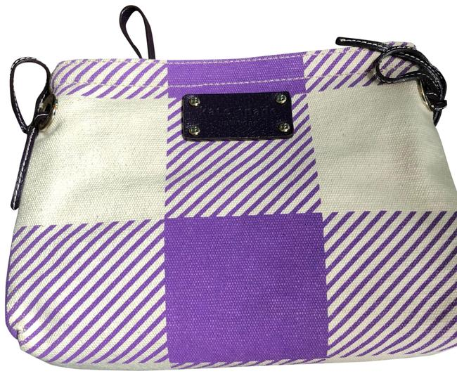 Item - Purple and Cream/ White Cosmetic Bag