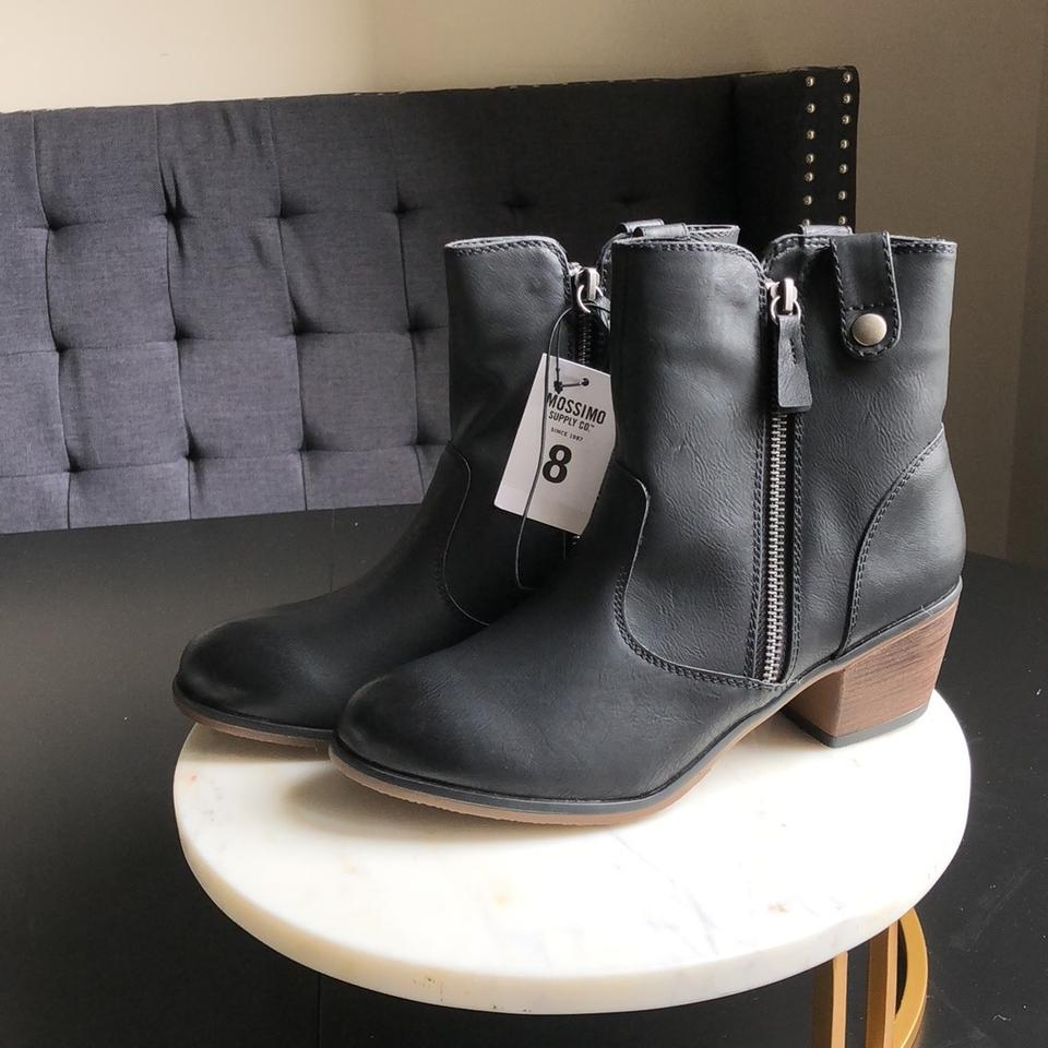 6f6e81fd9086 Mossimo Supply Co. Black Char    096101873 Boots Booties Size US 8 Regular ( M