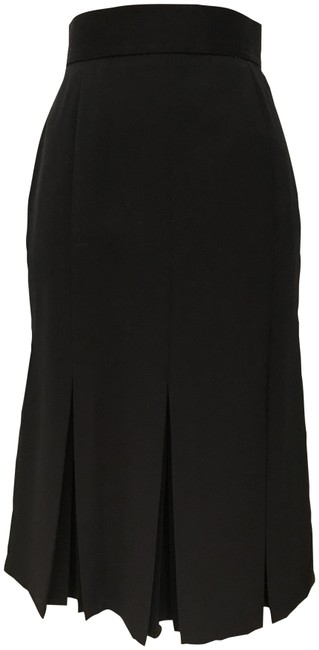 Preload https://img-static.tradesy.com/item/23212118/harve-benard-black-pleated-pencil-wool-blend-31-long-knee-length-skirt-size-6-s-28-0-2-650-650.jpg