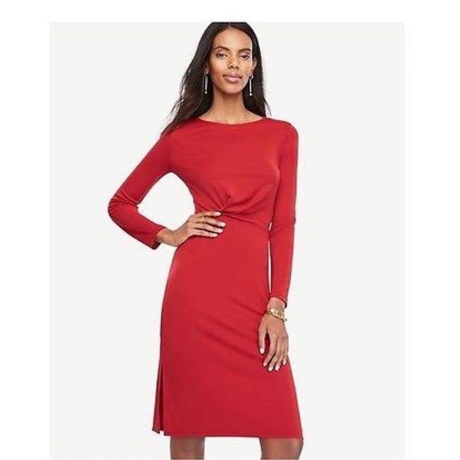Preload https://img-static.tradesy.com/item/23212127/ann-taylor-red-michael-kors-claire-suede-sandal-mid-length-cocktail-dress-size-12-l-0-0-650-650.jpg