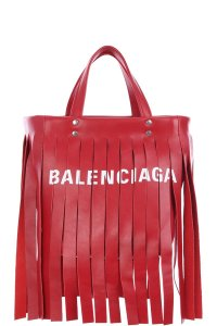 Balenciaga Leather Laundry Cabas Xs Tote in Red