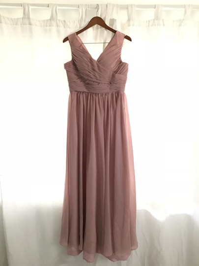 Preload https://img-static.tradesy.com/item/23212180/blush-chiffon-women-s-prom-long-evening-gowns-formal-bridesmaidmob-dress-size-8-m-0-0-540-540.jpg