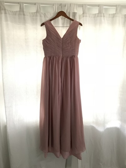 Blush Chiffon Women's Prom Long Evening Gowns Formal Bridesmaid/Mob Dress Size 8 (M)