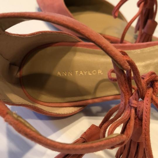 Ann Taylor pink suede Flats