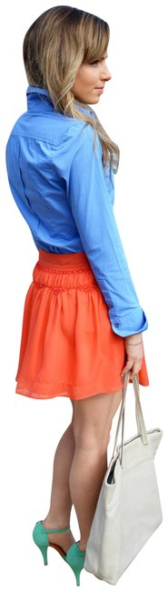 Central Park West Reddish Orange A-line Date Night Skirt Size 2 (XS, 26) Central Park West Reddish Orange A-line Date Night Skirt Size 2 (XS, 26) Image 1