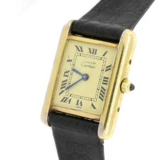 Cartier Paris Tank Small Roman Dial 21MM Ladies Watch Gold Plated