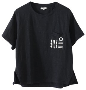 Madewell Summer Embroidered Festival T Shirt Black