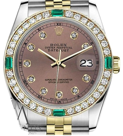 Preload https://img-static.tradesy.com/item/23212377/rolex-36mm-datejust-2-tone-salmon-color-dial-emerald-diamond-watch-0-1-540-540.jpg