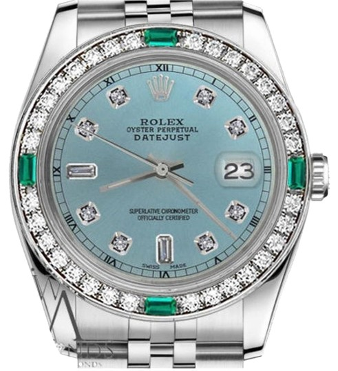 Preload https://img-static.tradesy.com/item/23212398/rolex-36mm-datejust-ice-blue-color-dial-emerald-diamond-watch-0-1-540-540.jpg